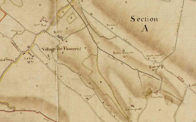Le cadastre de Flourens en 1824