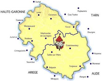 Carte Lauragais