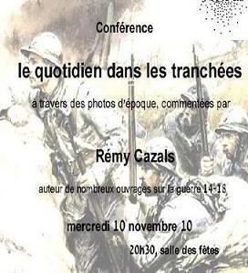 Conference Le Quotidien dans les tranchees