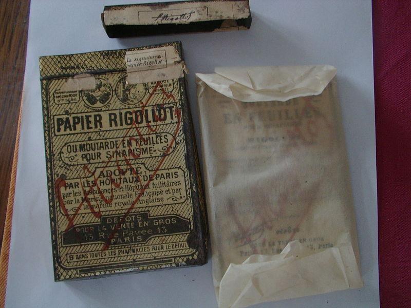 Papier RIGOLOT à la moutarde