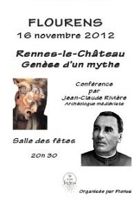 Veillee du 16:11:2012 Rennes-le-Chateau Genese d'un mythe Flourens