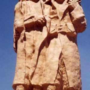 Les frères d'armes sur le monument de Pouilly-Feurs