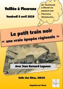 """Veillée le Vendredi 5 avril Une épopée ferroviaire régionale """"Le petit train noir"""" et autres lignes"""